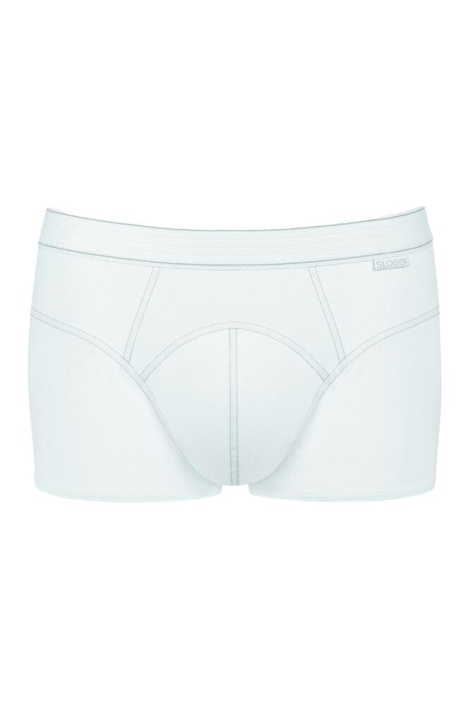 Mens 1 Pair Sloggi Active Silver Plus Hipster Briefs In White