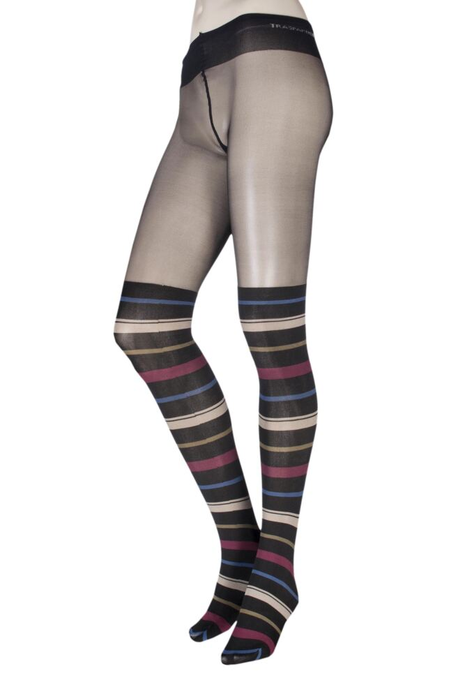 Ladies 1 Pair Trasparenze Anemone Mock Over the Knee Tights