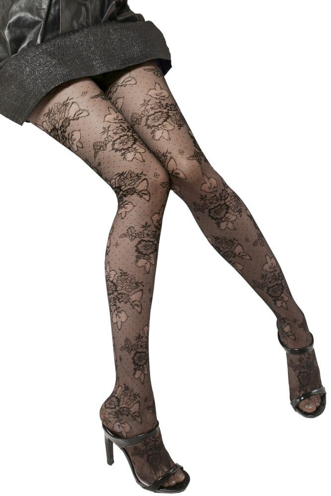 Ladies 1 Pair Trasparenze Argo Floral Sheer Tights 25% OFF