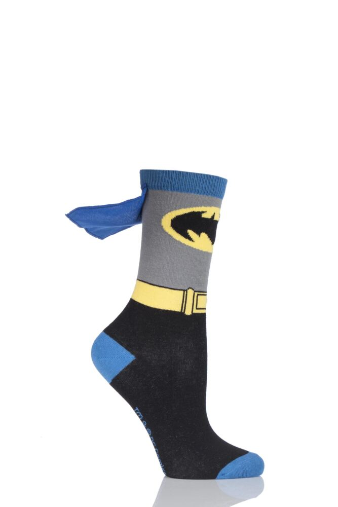 Ladies 1 Pair SockShop Batman Cape Socks