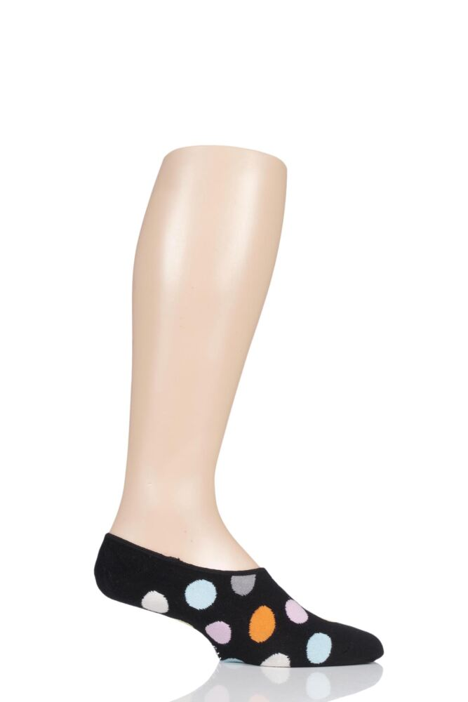 Mens and Ladies 1 Pair Happy Socks Dots Shoe Liner Socks