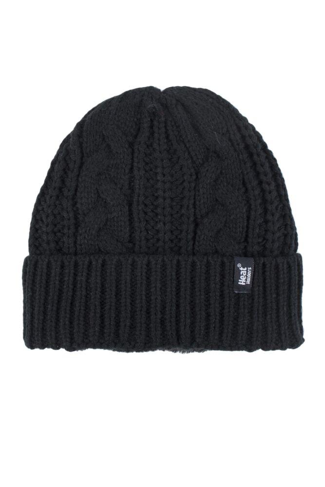 Ladies 1 Pack Heat Holders Heat Weaver Cable Knit Hat