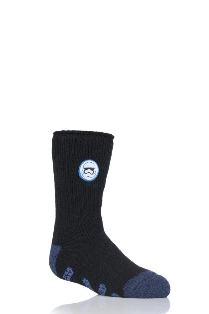 Kids 1 Pair SockShop Heat Holders Star Wars Storm Trooper Slipper Socks