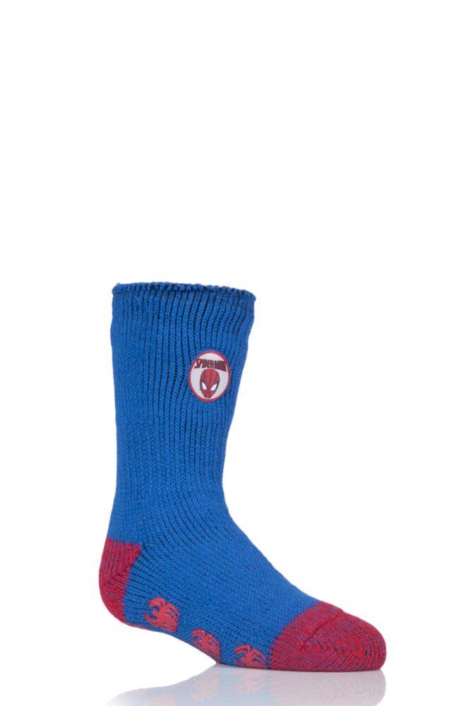 Kids 1 Pair SockShop Heat Holders Marvel's Ultimate Spider-Man Slipper Socks