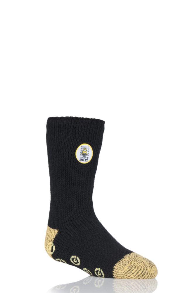 Kids 1 Pair SockShop Heat Holders Jailbird Minions Slipper Socks