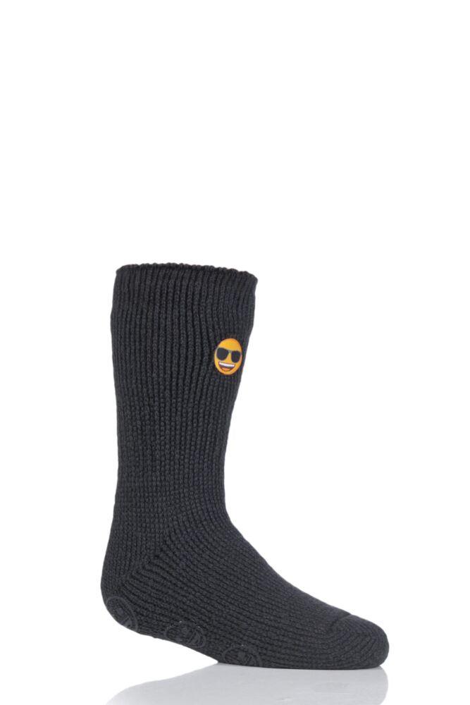Kids 1 Pair SockShop Heat Holders Emoji Sunglasses Face Slipper Socks