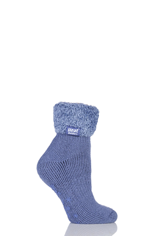 SockShop Heat Holders Thermal Lounge Socks Dark Lavender