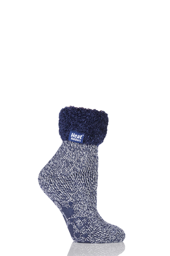 SockShop Heat Holders Thermal Lounge Socks Deepest Plum