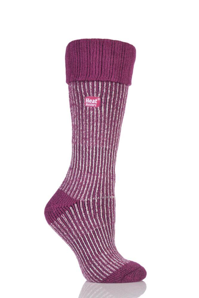 Ladies 1 Pair SockShop Heat Holders 2.3 TOG Thermal Boot Socks