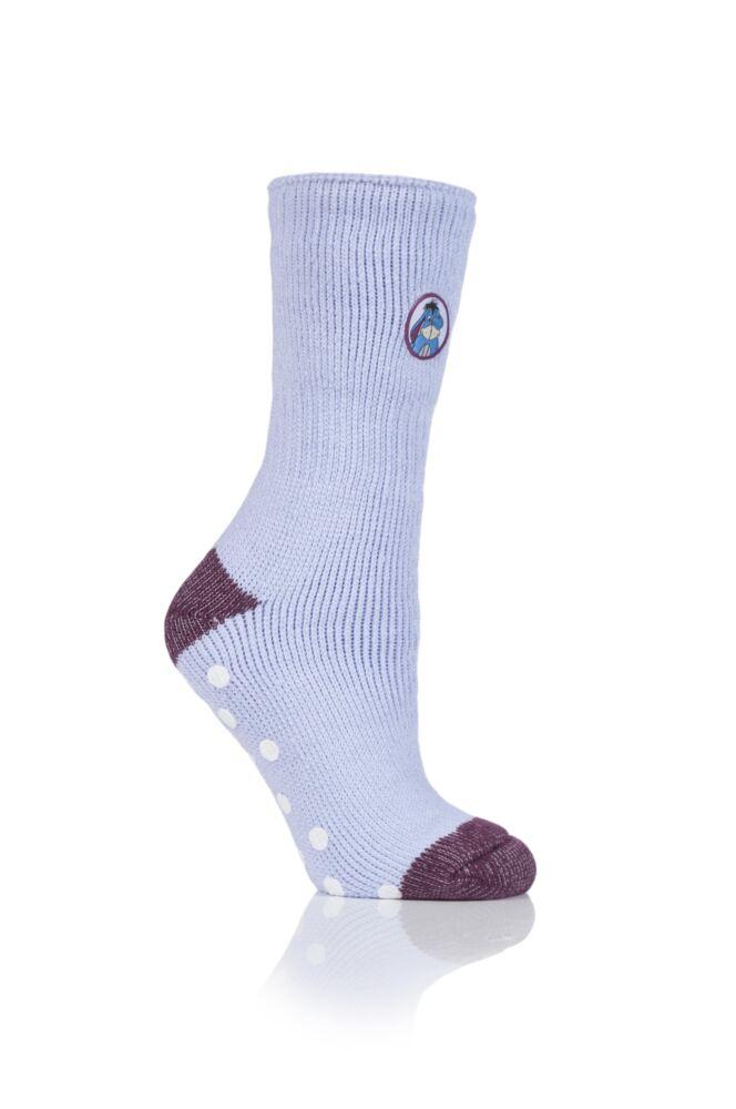 Ladies 1 Pair SockShop Heat Holders Disney's Eeyore Slipper Socks