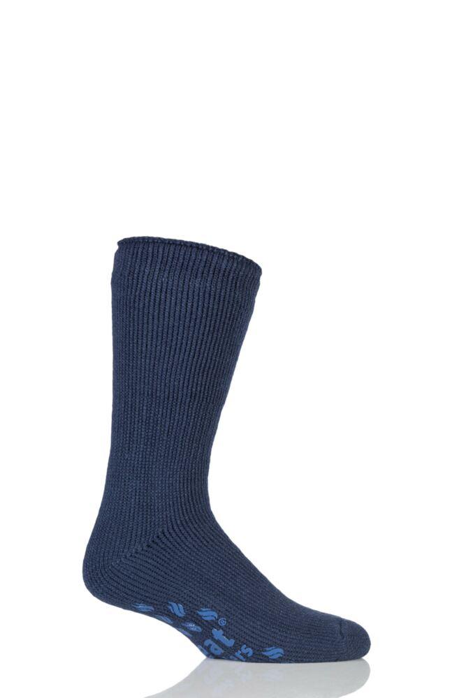 Mens 1 Pair SockShop Slipper Heat Holders Thermal Socks