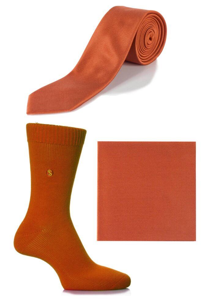 Mens SockShop Colour Burst Socks, Tie and Pocket Square Matching Set - Save over 30%
