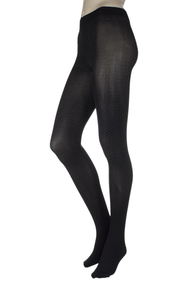 Ladies 1 Pair Charnos Mini Spot Opaque Tights