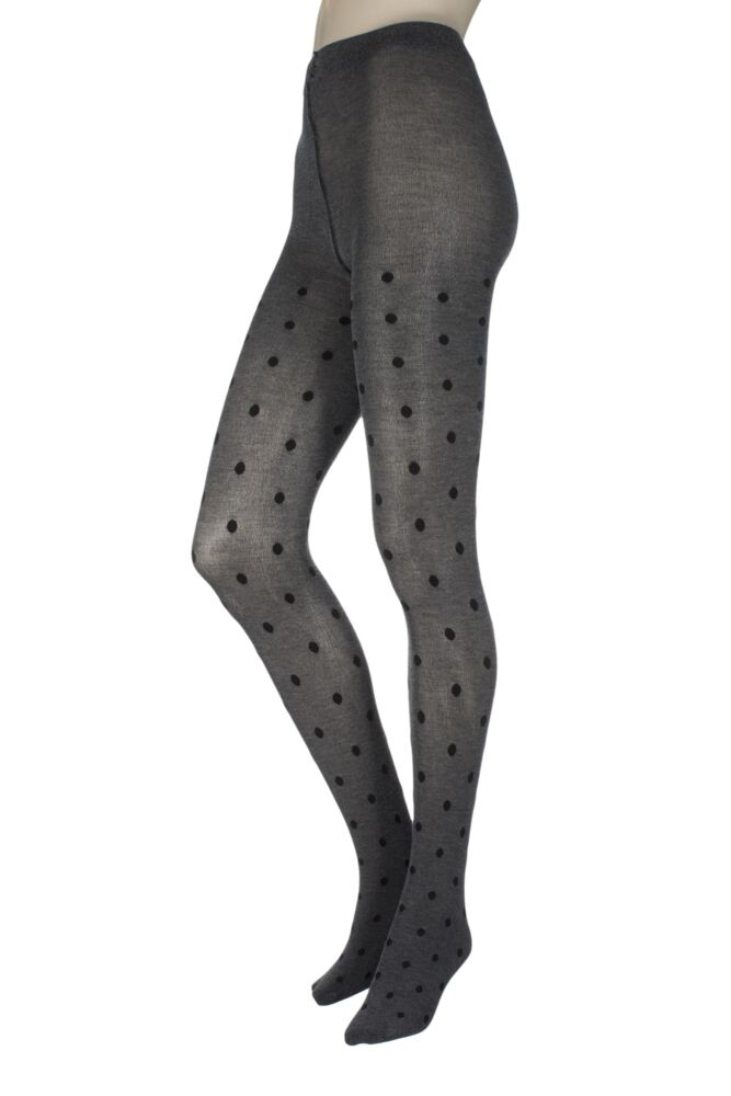 Ladies 1 Pair Charnos Luxury Knits Viscose Spot Tights