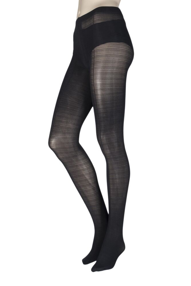 Ladies 1 Pair Charnos Striped Opaque Tights