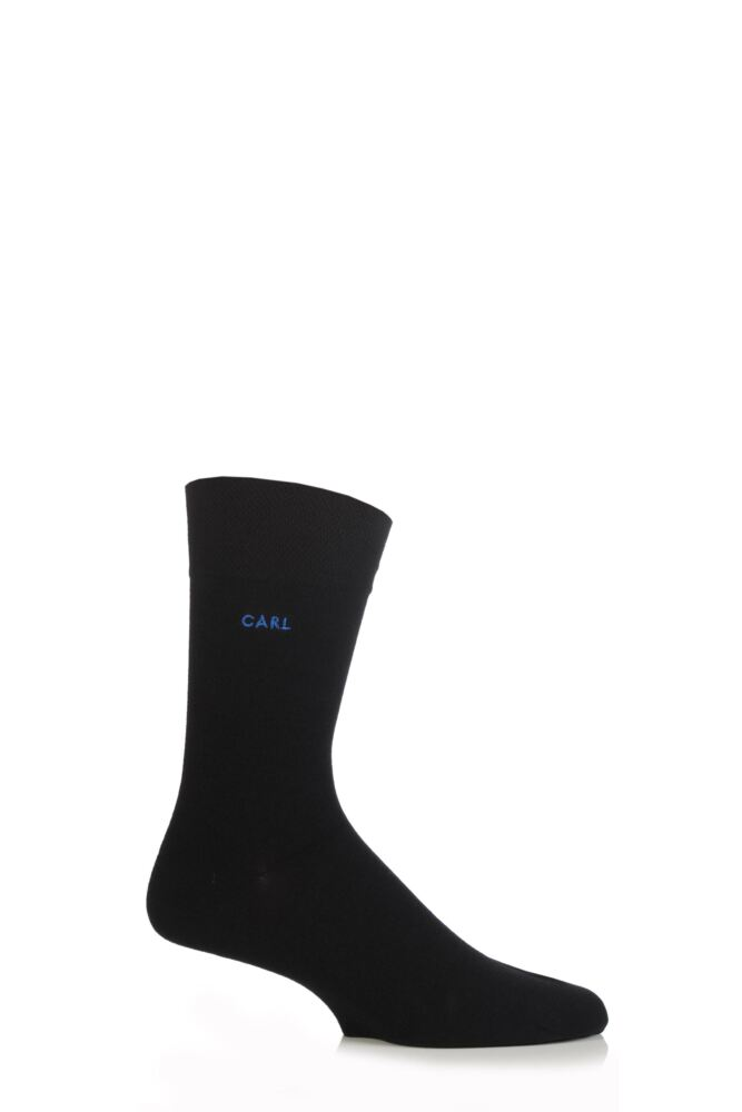 Mens 1 Pair SockShop Individual Black Names Embroidered Socks - 59 Names To Choose From