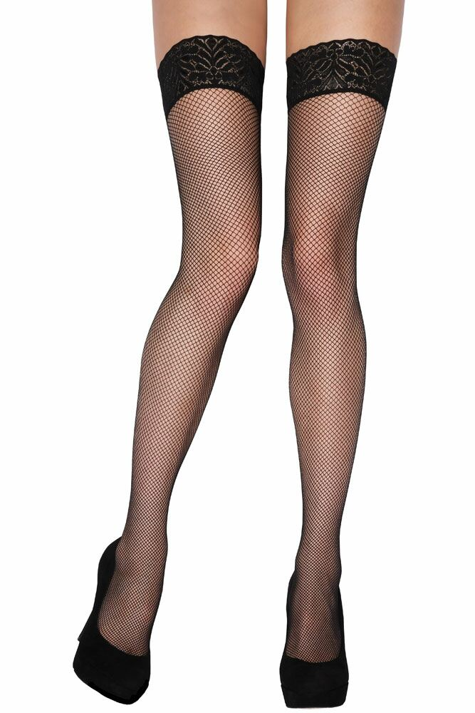 Ladies 1 Pair Charnos Fishnet Hold Ups