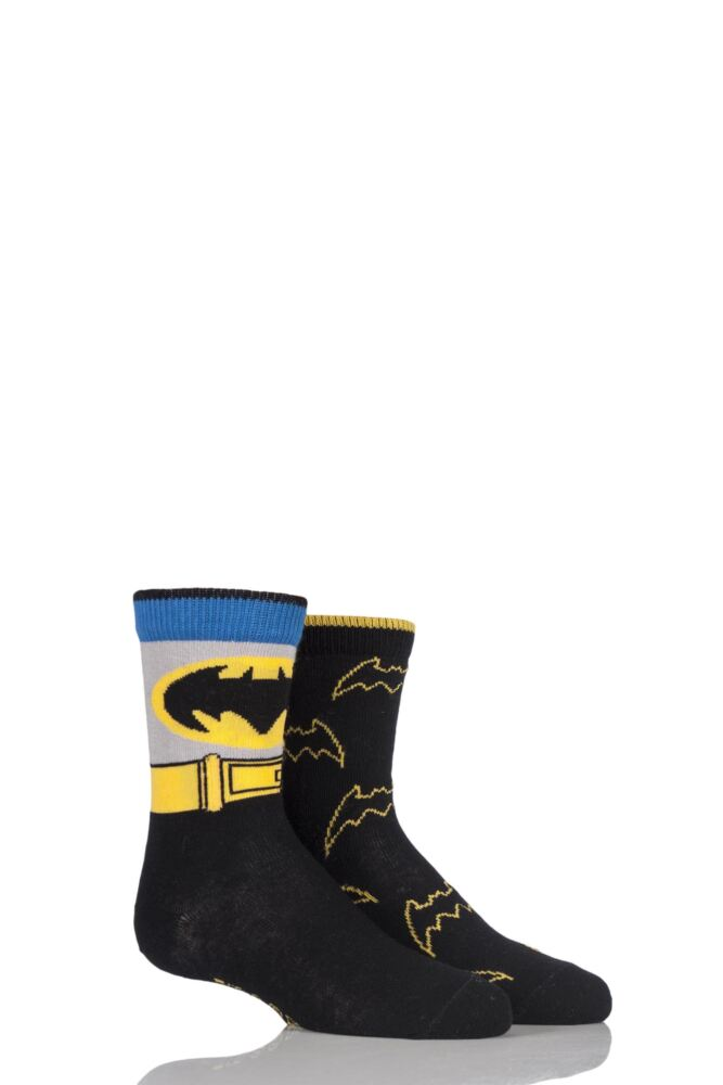 Boys 2 Pair SockShop DC Comics Mix Batman Socks