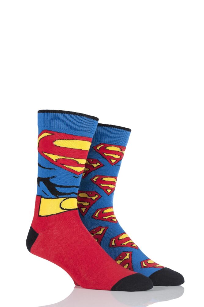 Mens 2 Pair SockShop DC Comics Mix Superman Socks