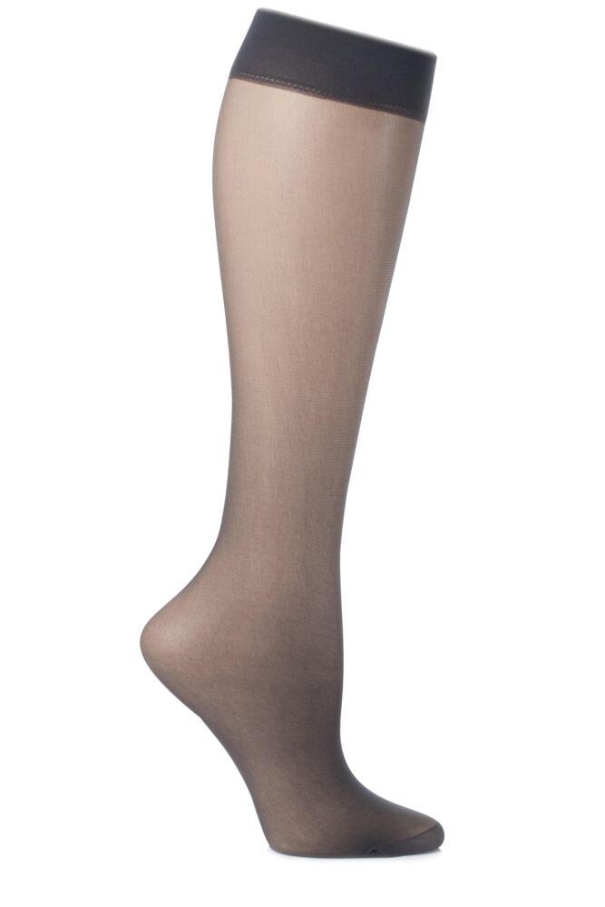 Ladies 2 Pair Charnos 15 Denier Trouserwear Knee Highs