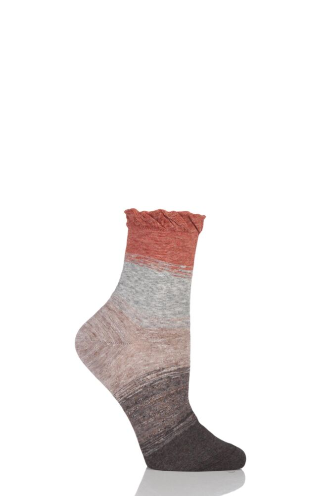 Ladies 1 Pair Charnos Slouch Stripe Cotton Socks