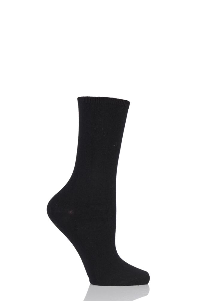 Ladies 1 Pair Charnos Comfort Top Cotton Socks