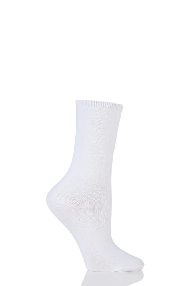 Ladies 1 Pair Charnos Comfort Top Cotton Socks