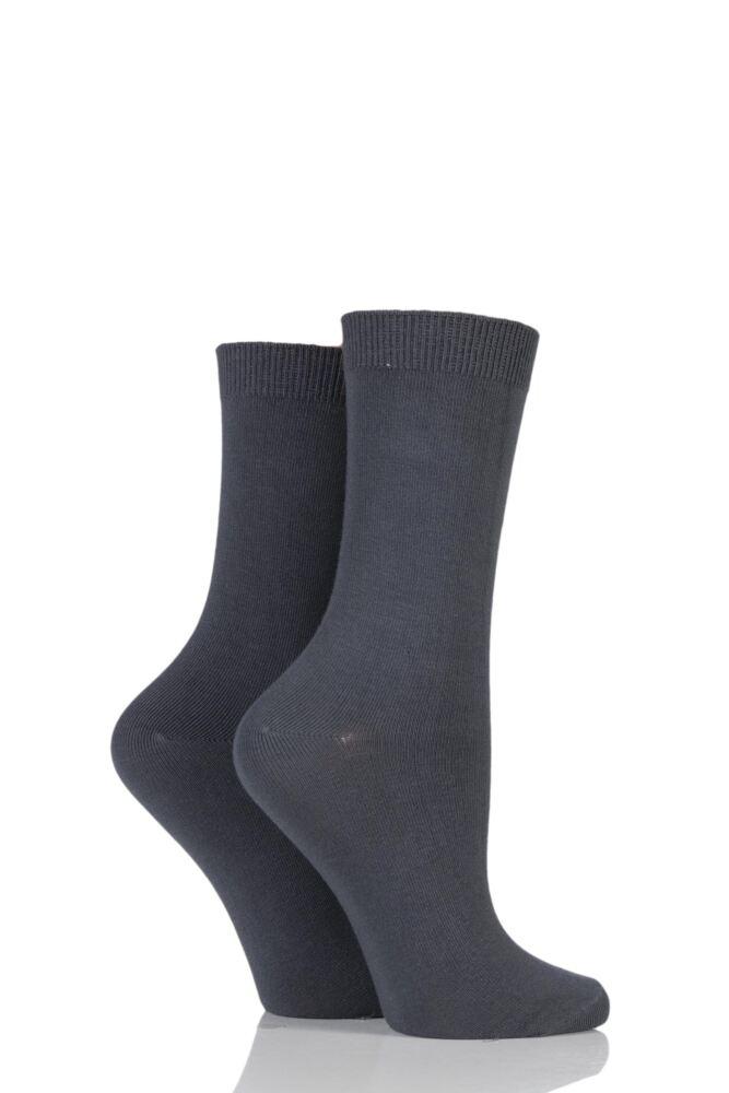 Ladies 2 Pair Charnos Cotton Modal Socks