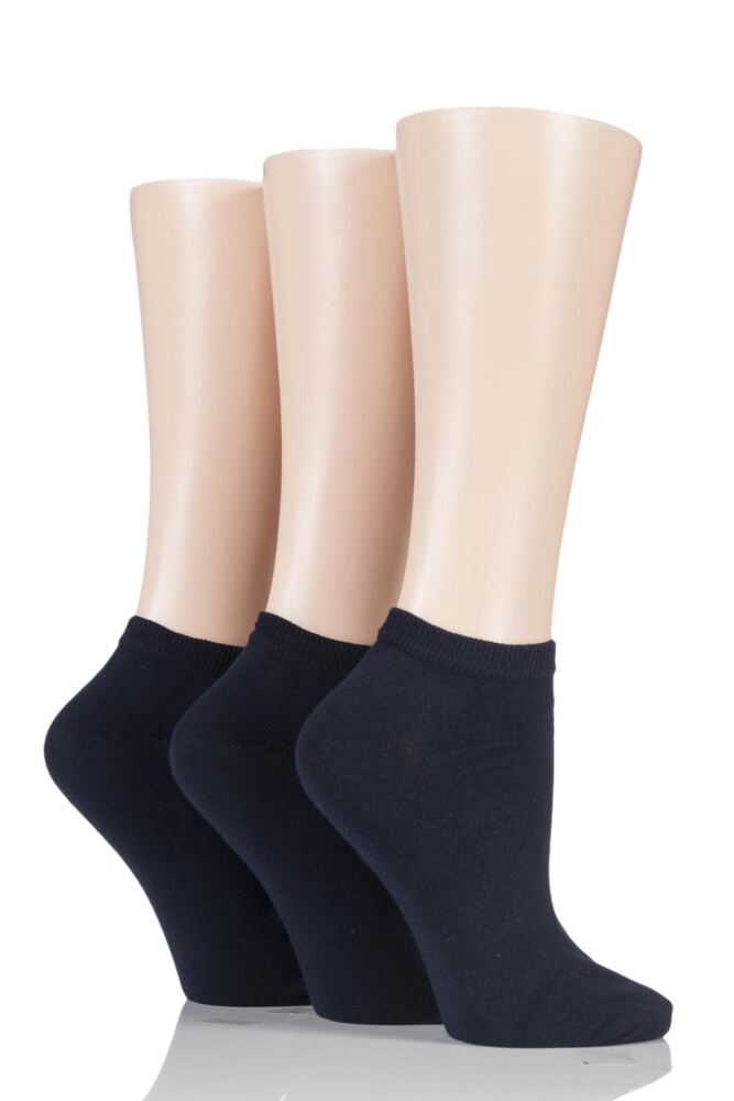 Ladies 3 Pair Charnos Cotton Trainer Socks