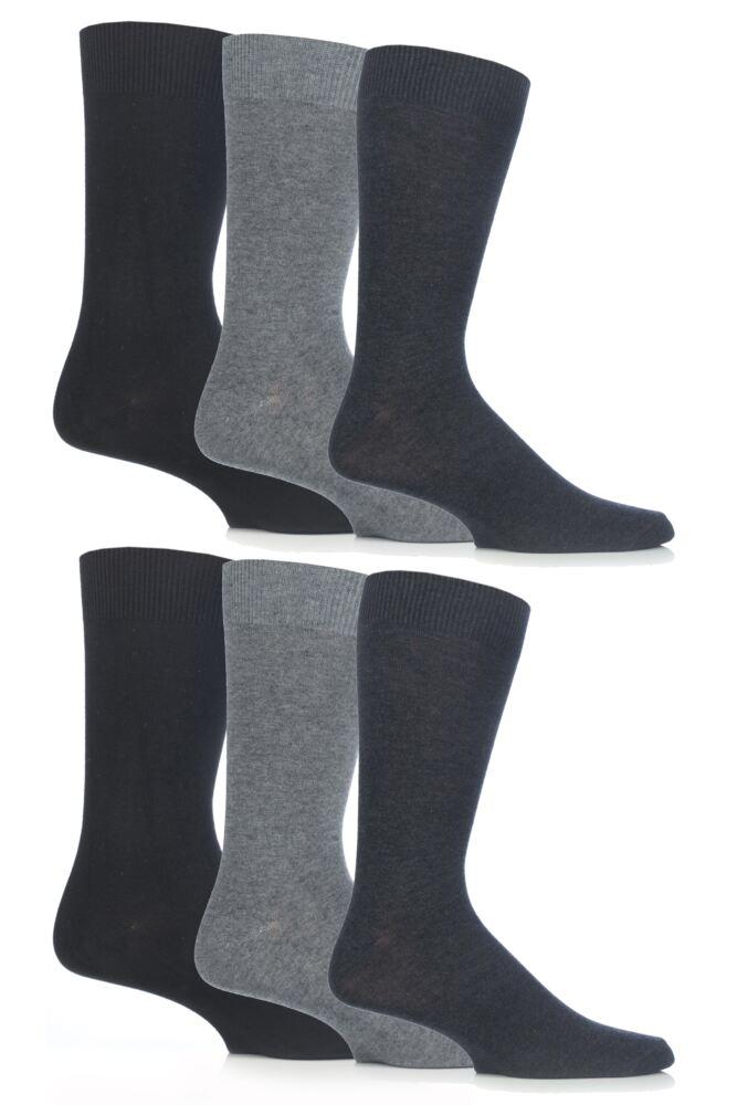 Mens 6 Pair SockShop Outstanding Value Cotton Modal Socks