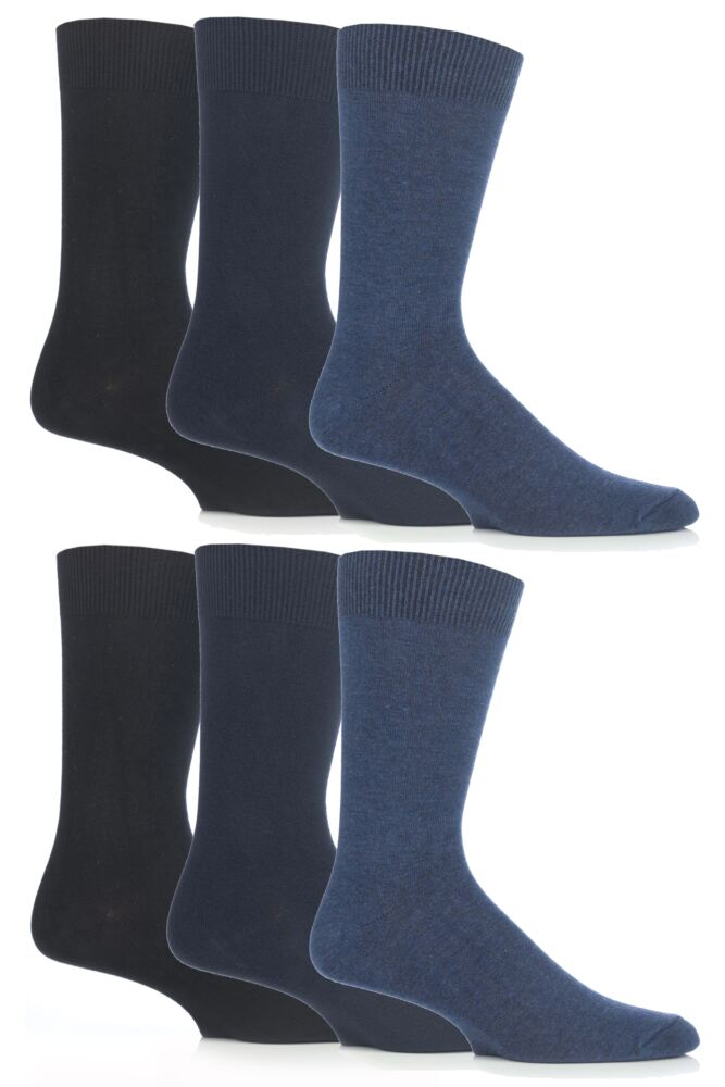 Mens 6 Pair SockShop Outstanding Value Cotton Modal Socks