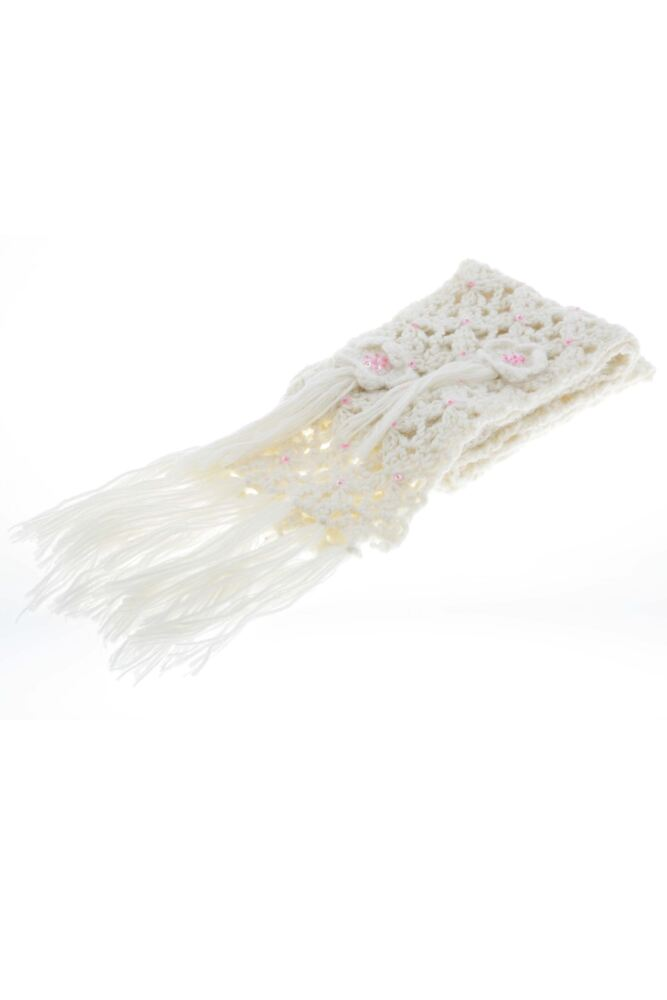 Girls CosmoGirl! Crochet Bloom Scarf Cream - Worth £18.99