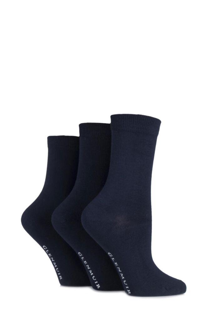 Ladies 3 Pair Glenmuir Classic Plain Bamboo Socks