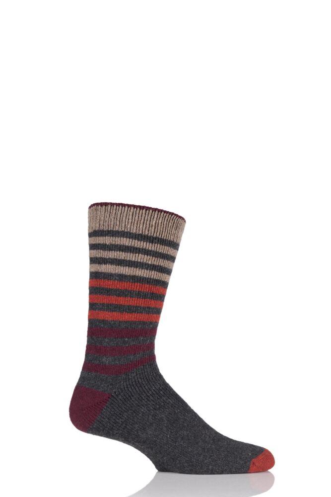 Mens 1 Pair Urban Knit Ombre Striped Wool Blend Socks 33% OFF