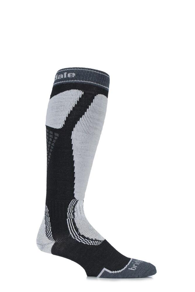 Mens 1 Pair Bridgedale Alpine Tour MerinoFusion Midweight Ski Socks