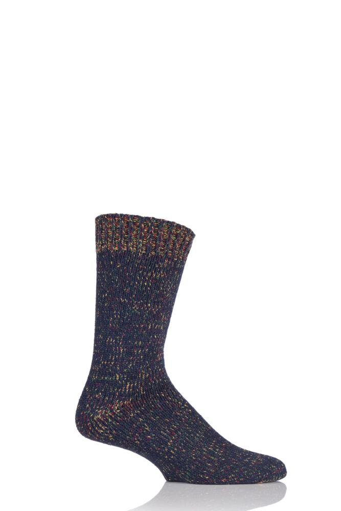 Mens 1 Pair Urban Knit Multi Twist Marl Cotton Socks 33% OFF