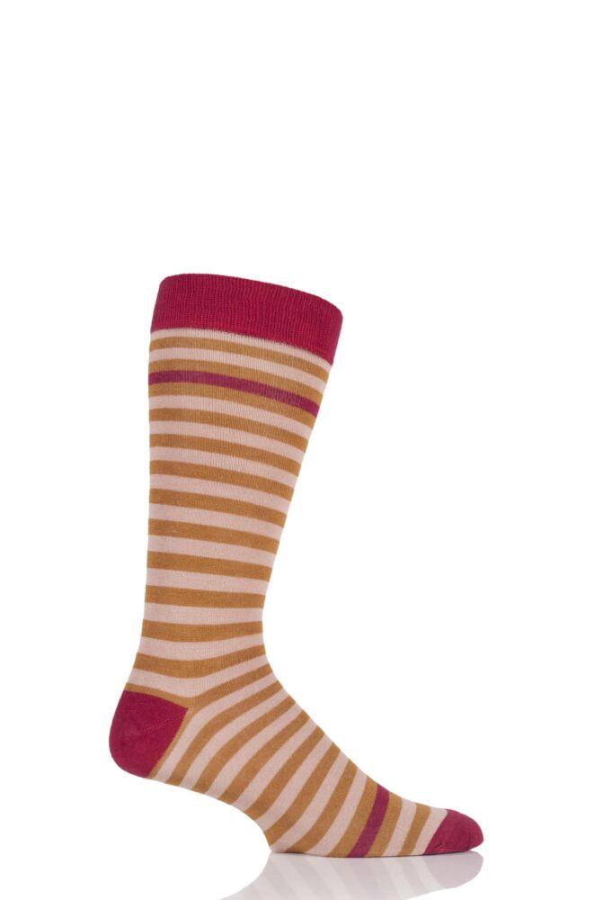Mens 1 Pair HJ Hall Heligan Striped Bamboo Socks