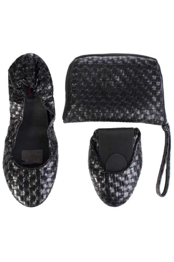 Ladies 1 Pair Tipsy Feet Weave Foldable Shoes 50% OFF