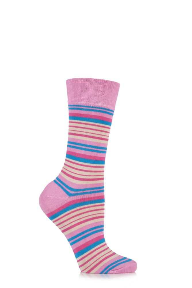 Ladies 1 Pair HJ Hall Fistral Striped Bamboo Socks 25% OFF