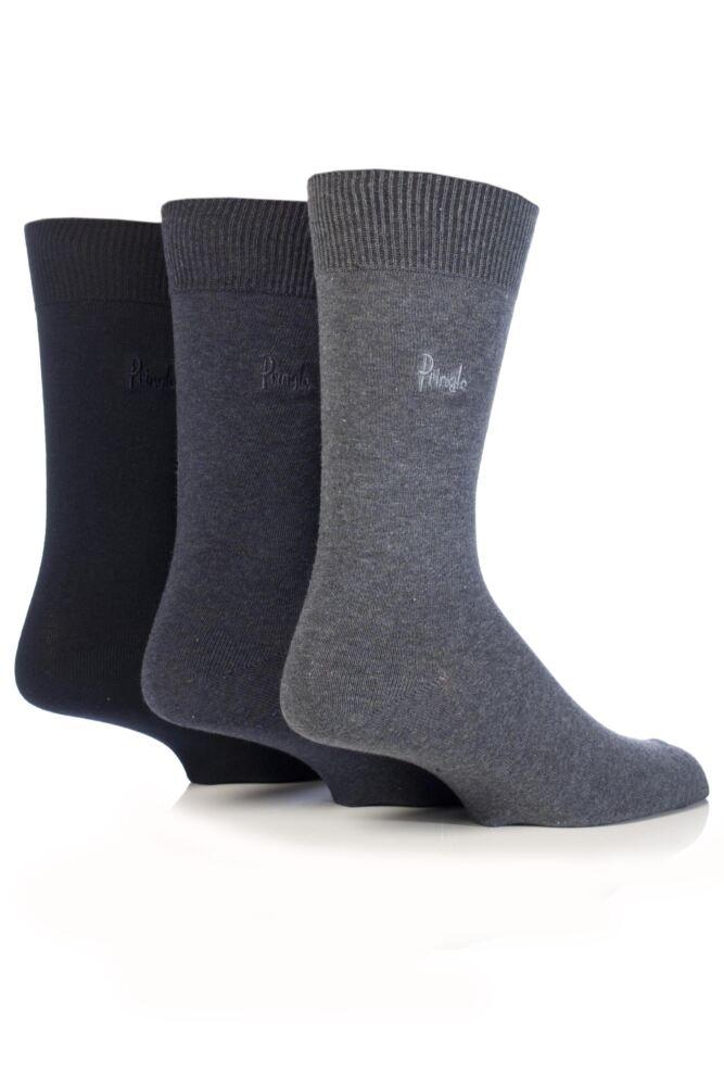 Mens 3 Pair Pringle Endrick Plain Trouser Socks In 11 Colours