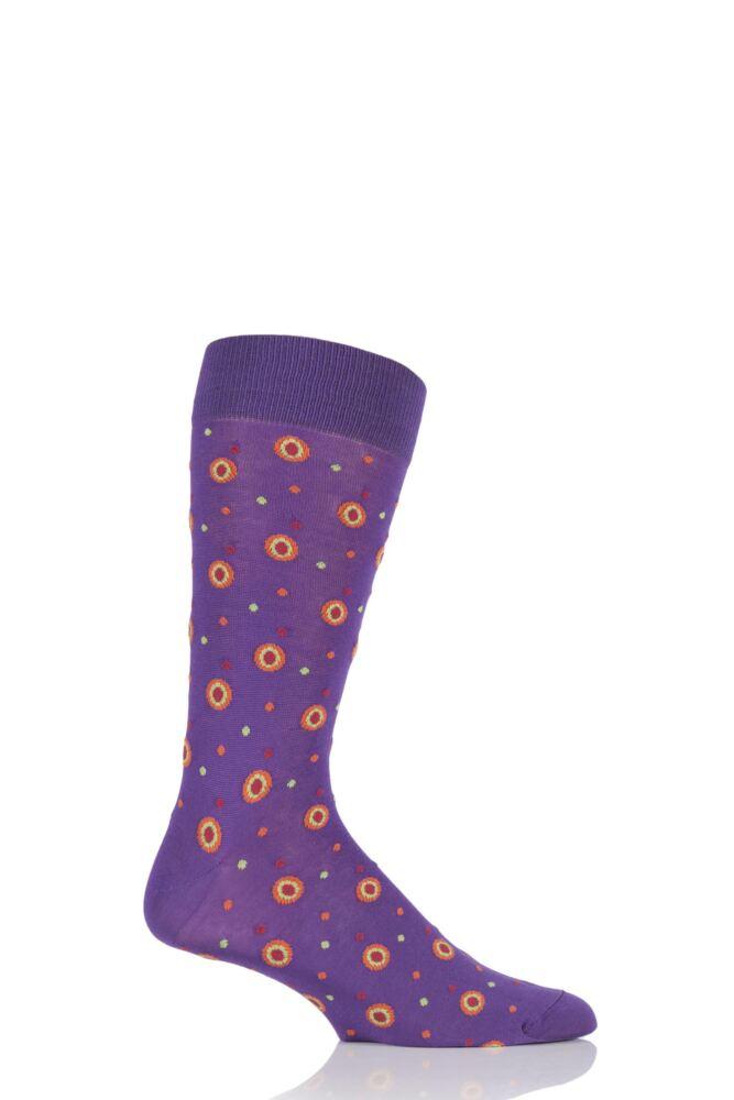 Mens 1 Pair HJ Hall Jefferson Spotty Egyptian Cotton Socks 33% OFF