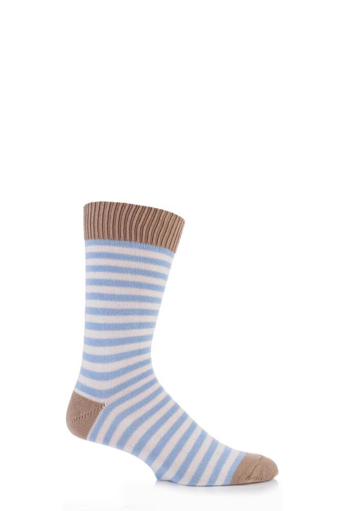 Mens 1 Pair J Alex Swift Striped 80% Cotton Socks