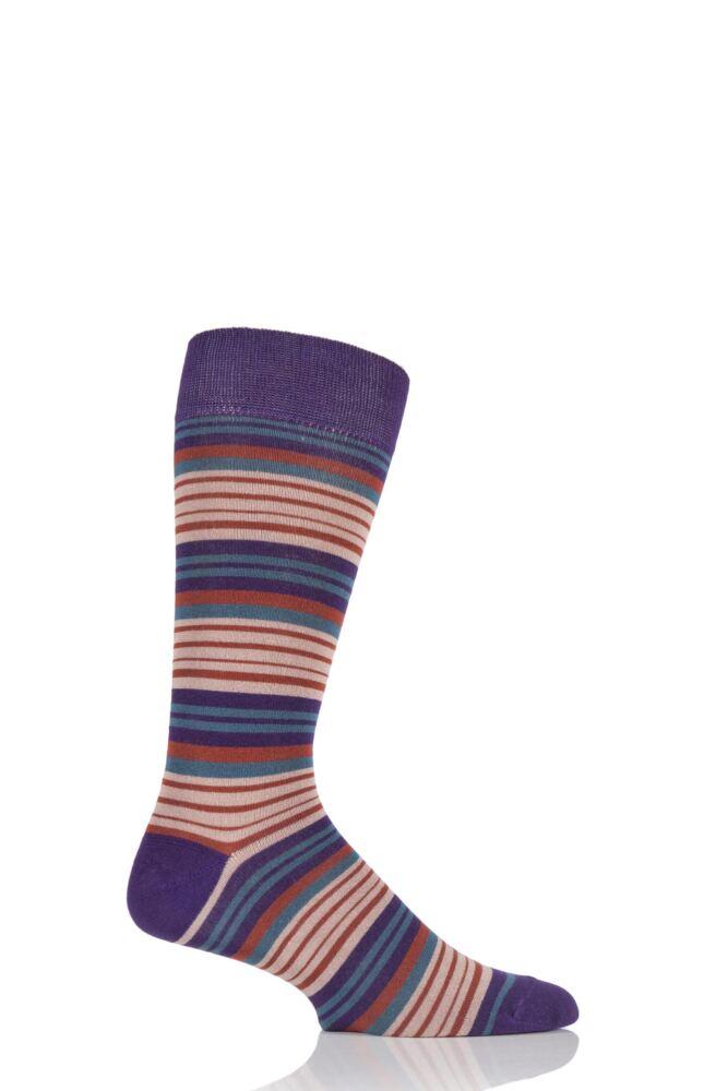 Mens 1 Pair HJ Hall Fistral Striped Bamboo Socks