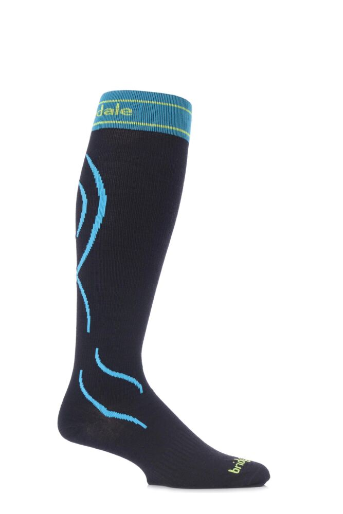 Mens and Ladies 1 Pair Bridgedale Lightweight Compression MerinoFusion Ski Socks