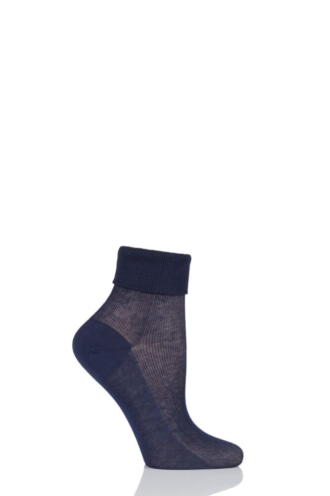 Ladies 1 Pair Charnos 100% Cotton Comfort Top Socks