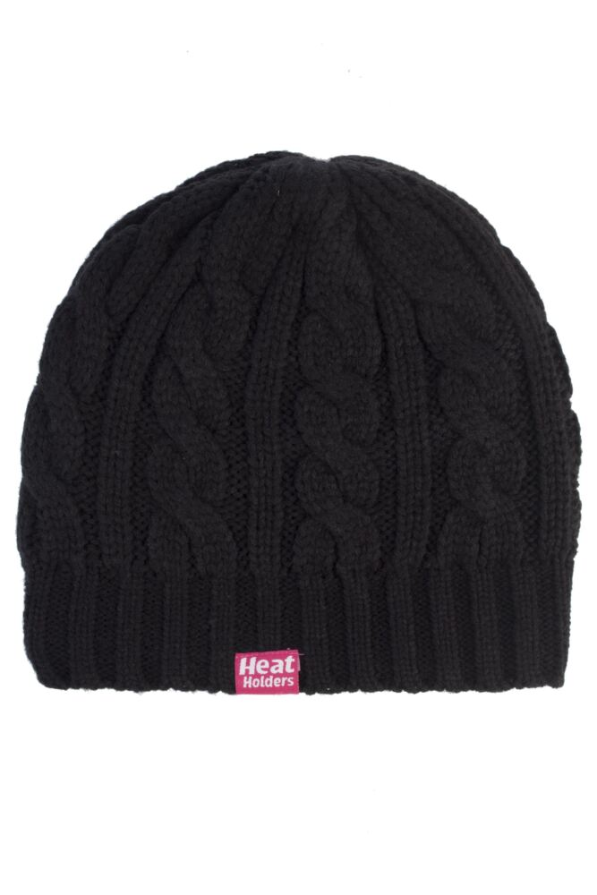 Ladies SockShop Heat Holders Cable Knit Hat