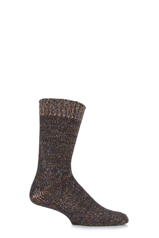 Mens 1 Pair Urban Knit Multi Twist Marl Cotton Socks