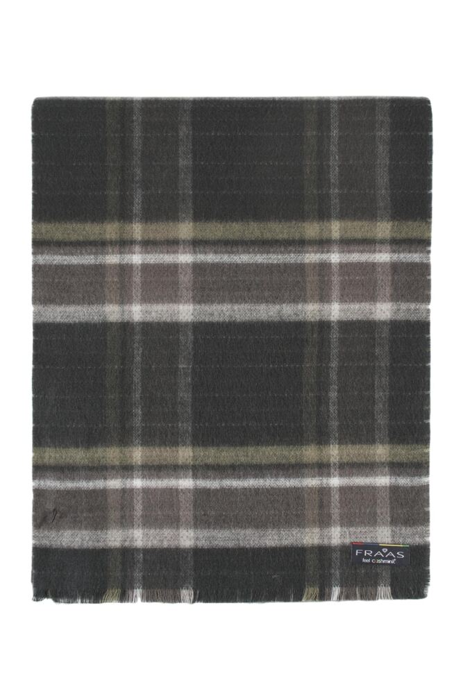 Mens Fraas Cashmink Check Design Reversible 30 x 200cm Scarf