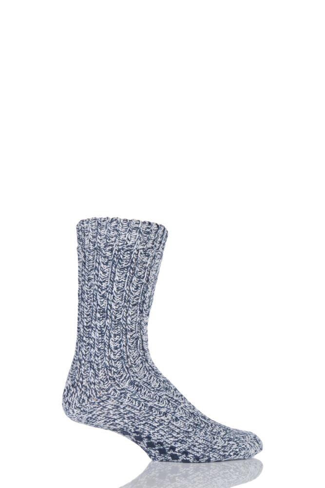 Mens 1 Pair SockShop Chunky Marl Slipper Socks