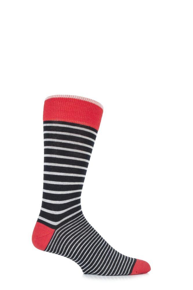 Mens 1 Pair Viyella Two Stripe Wool Blend Socks 25% OFF